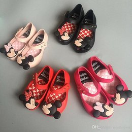 Wholesale Summer Sandal Wholesale - Hot Minnie Mickey Mouse Melissa Children's Girls Summer Sandals Jelly Princess PVC Soft Bottom baby Buckle Shoes Birthday Gift