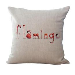 2019 versteckendes design Flamingo Kissenbezug Leinen Waschbar Kissenbezug Versteckte Zip Design Mode Auto Taille Pillowslip Home Decor Heißer Verkauf 7my R rabatt versteckendes design