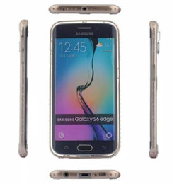 Wholesale Diamond Bumper Iphone Case - Luxury Diamond Crystal Rhinestone Bling Metal Frame Bumper Case Cover for iphone 6 plus SamsungS6 With Retail Box DHL Free SCA147