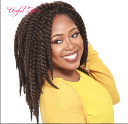 "Wholesale Synthetic Hair Extentions - 3D cubic twist crochet braids hair extentions 22"" synthetic hair extensions havana mambo xpression braiding hair crochet braided in bundles"