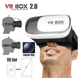 2019 s6 edge plus smartphone 2016 VR CAIXA 2.0 II Versão 3D Óculos VR Virtual Realidade Google Papelão + Inteligente Sem Fio Bluetooth Mouse / Controle Remoto Gamepad OTH249