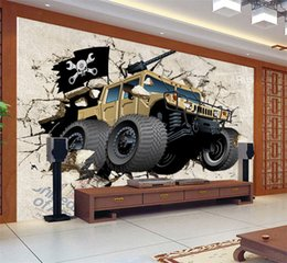 Özel Duvar Duvar Kağıdı 3D Karikatür Askeri Araçlar Fotoğraf Kağıdı çocuk Odası Oturma Odası TV Zemin Duvar Kağıdı cheap military vehicles nereden askeri araçlar tedarikçiler