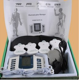 Wholesale Therapy Slimming Massager - High Quality JR309 Electrical Muscle Stimulator Massageador Tens Acupuncture Therapy Machine Slimming Full Body Massager + 4 pads with box