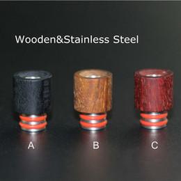 Wholesale Ss Mod - Best Wooden Drip Tips 510 Red Wood Stainless Steel Mouthpiece SS Drip Tip Fit Box Mod Atoimzers Ecigs Tanks RDA Atomizer Vapor Vape