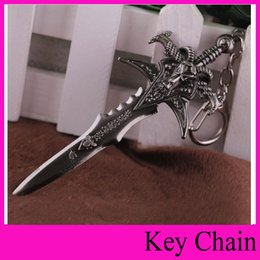 Wholesale Sword Keyring - NEW hot games movies 12cm sword Key Chain Ring Keyring Key Holder Keychain Collection Toys Gifts for kids lovers