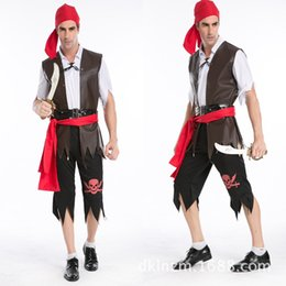 Wholesale Ds Xl Game - Wholesale-Pirates of the Caribbean cosplay dress Halloween male and female pirate costume party costumes DS uniforms Adult cosplay