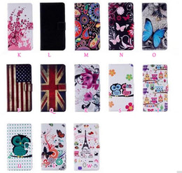 Wholesale Usa Bearings - UK USA Flag Flower Butterfly Leather Wallet Case For Iphone X 5.8'' Eiffel Tower Flip Cover Bear Owl Cartoon Camouflage Fashion Skin Pouch