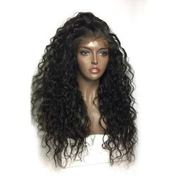 Wholesale Heat Waves - Human Hair Lace Frontal Wigs Long black Curly Wave Synthetic High Heat Resistant Glueless For Black Women AP1222