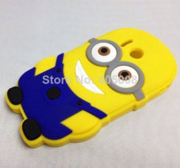Wholesale Cell Phone Cases Minions - New arrival soft silicone Despicable Me minions case huawei ascend y300 cell phone cases covers huawei y300 free shipping 1pc