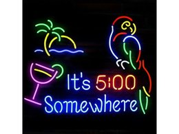Wholesale Neon Tubes - New Its 500 Somewhere Glass Neon Sign Light Beer Bar Pub Arts Crafts Gifts Lighting Size 22""