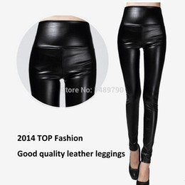 Wholesale High Waist Leather Hot Pants - Wholesale-2016 autumn and winter fashion hot-selling fashion faux leather legging matte trousers high waist pants PU trousers female