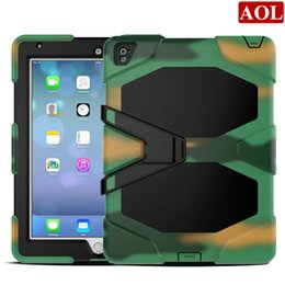 Wholesale Military Tough Case Cover - New Tough RUGGED MILITARY DUTY Shock Proof Dirt Proof Armor STAND Case Cover For Apple iPad Pro 9.7'' inch air3 Case Cover