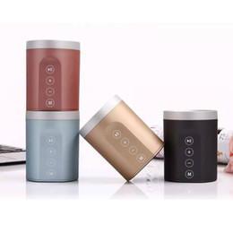 Wholesale sound card usb input - metal case USB Bluetooth Speaker FM Radio Aux input Hands free calling 1000mah Li-battery Top Ten Bluetooth Speakers For Laptop
