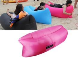Wholesale Air Dream - NEOpine Outdoor Inflatable Lounger, Nylon Fabric Beach Lounger Convenient Compression Air Bag Hangout Bean Bag Portable Dream Chair