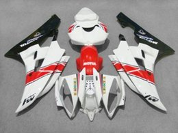 Wholesale Top Fairing R6 - Injection mold Fairing kit for YAMAHA YZFR6 06 07 YZF R6 2006 2007 YZF600 yzfr6 06 TOP red white black Fairings Set