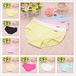 Wholesale Sexy Ladies Underpants - 2016 New Hot 12 Colors Fashion Sexy Women's Cotton Underwears Women's Briefs Ladies Panties Breathable Underpants Girls Knickers