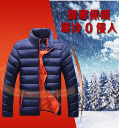 Wholesale Mens Casual Jackets For Spring - Winter Jacket Men 2016 New Spring Men's Cotton Blend Mens Jacket Coats Casual Thick Outwear For Men Plus Clothing Male cotton-padded jackets