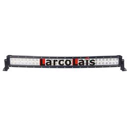 33 pollici curvo 180 W Epistar LED Light Bar per il lavoro di guida barca auto camion 4x4 SUV ATV Off Road fendinebbia 12 v 24 v da