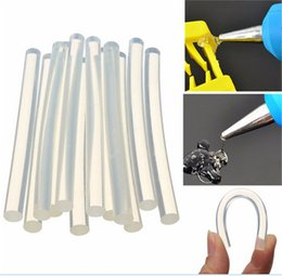 Wholesale gluing fabric - 12Pcs Set Plastic Hot Melt Glue Stick for For Plastic Wood Fabric Electronics Metal Leather Home Office Supplies 7mm*100mm