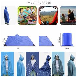 Wholesale Tent Pads - Multifunction Poncho Raincoat Shade Shelter Tent Backpack Rain Cover Camping Moistureproof Picnic Pad 5 Styles LJJO3323