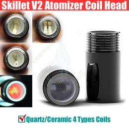 wax vapor head replacement Coupons - Skillet 2 Replacement Coils Head @Puffco pro Vaporizer Dual Quartz Rod Ceramic Chamber Donut 2 Wax Dry herb atomizer herbal vapor pen coil