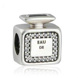 2020 bracelet de charme parfum Nouveaux authentiques Argent 925 Signature parfum Charms bouteille de parfum perles en cristal clair Pave pour perles Bracelet bricolage fin Jewelry Making bracelet de charme parfum pas cher