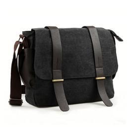 Wholesale Canvas Messenger Bags College - Fashion Cotton Canvas Messenger Bag Cross Body Shoulder Bag Purse Bag College Bag For Men Women Teenagers