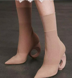 Wholesale Lycra Stretch Dress - 2018 summer dress shoes legging boots mid calf booties point toe party shoes fretwork heel gladiator sandals boots ladies