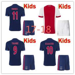 Wholesale Fc Top - top Thai quality 2017 2018 Ajax FC home soccer jersey KLAASSEN FISCHEA BAZOER MILIK AJAX kids kit football soccer jersey shirt free shipping