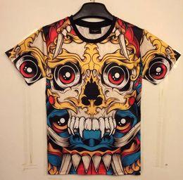 Wholesale Eye Shirts - tshirt Classic New Fashion men's 3D t-shirt funny printed Cartoon big red eyes skull top tees 3d Tshirt DT35