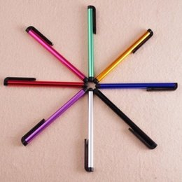 Wholesale Wholesale Cell Phone Stylus Pens - Wholesale 1000pcs lot Universal Capacitive Stylus Pen for Iphone 7 6 5 5S Touch Pen for Cell Phone For Tablet Different Colors