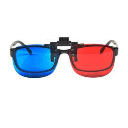 Wholesale Hanging Clip Frames - Hot Sale Red Cyan Blue 3D Glasses Hanging Frame Myopia Glasses Stereo Clip On Dimensional clip fabric