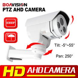 Wholesale Ir Ptz Camera Waterproof - Waterproof Outdoor CCTV Security HD 1080P Outdoor 2.0MP Mini Bullet IR 30m AHD PTZ Camera,2Pcs Array Leds,Support Coaxial Or RS485 Control