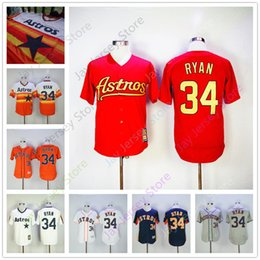Wholesale Rainbow Jersey - Nolan Ryan Jersey Men Women Youth Flexbase Cool Base Houston Astros Rainbow Los Angeles Angels New York Mets Texas Rangers