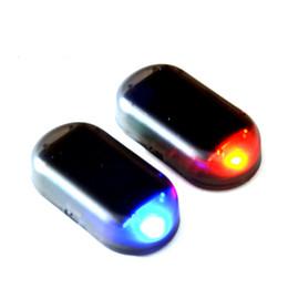 Argentina 10 Unids Alarma de Coche Inalámbrica Sistema de Advertencia de Seguridad de La Luz LED Robo de La Lámpara Luz Intermitente de Flash Simular Sensor de Luz Solar Incorporado Suministro