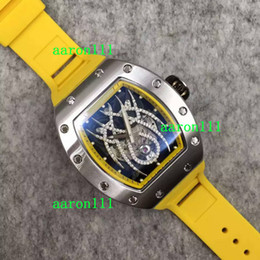 Wholesale Watch Spider - Christmas Gift Automatic Luxury Rubber Stainless Steel RM19 Diamonds Spider Face Men Swiss Brand Mechanical Watch Dive Mens Sport Wristwatch