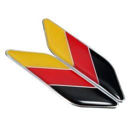 Audi tedesco online-1 paio auto 3D bandiera tedesca Germania Sticker Badge Emblemi Decalcomania Decor per BMW / VW / OPEL / AUDI