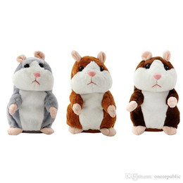 Wholesale Electronic Hamsters - 100pc Wholesale-W110 New 2015 Lovely Talking Sound Record Electronic Navy Pirate Hamster Plush Toy Kids Gift 1019