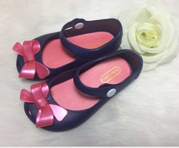 Wholesale fragrance baby - Korean Style 2016 New Baby Girls Princess Bow Sandals Toddler Soft Shoes Mini Melissa Same Style Jelly Shoes with fragrance KB307