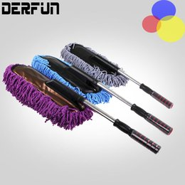 Wholesale mop brush cleaning - Hot Sale Multifunctional Car Water Wash Car Duster Cleaning Dirt Dust Clean Brush Dusting Tool Mop Gray Brush