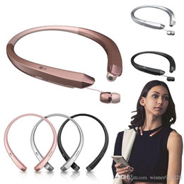 Wholesale Lg Hbs - HBS910 TONE INFINIM upgrade Version HBS900 Wireless HBS 910 Collar Headset Bluetooth 4.1 HBS910 Sports Headphones With Retail Package