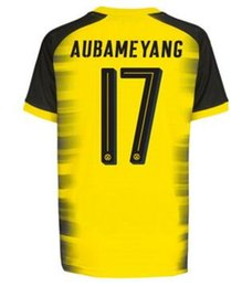 Wholesale Number 22 - 17-18 customize number Thai Quality Soccer wear,Customized Aubameyang 17 Pulisic 22 soccer jerseys tops,Schurrle 21 Dahoud 19 soccer wear