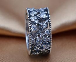 klar zirkonoxid ring pandora Rabatt NEUE Ringe 100% 925 Sterling Silber Ring mit klarem Zirkonia Schimmernde Blätter im europäischen Stil für Pandora Style Jewelry Fashion