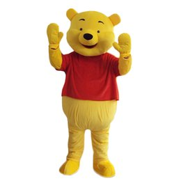 Wholesale Winnie Pooh Adult Clothes - 2016 lovely winnie the pooh mascot cartoon doll clothing role playing adult clothing size, free shipping