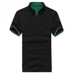 Wholesale Mens Wholesale V Neck - Wholesale-Shirt Men 2016 New Mens Swag Sport Casual T Shirt Men\'s Short Sleeve Knitted Fabrics Men T-shirt 4 Colors Tshirt Homme