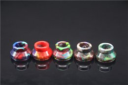 Wholesale Dhl Free Shipping Evod Tank - High Quality Solid Ecig 24mm wide bore drip tip eGo Evod Tanks CE4 CE5 Mouthpieces imported resin drip tip DHL Free Shipping