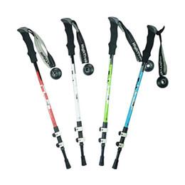 Wholesale Mountaineering Poles - S5Q Premium Quality Alpenstock Adjustable Folding Mountaineering Walking Sticks AAAGCX