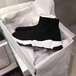 Wholesale Designer Sock - High Quality Outdoors designer Casual Shoes Flat Fashion Socks Boots Woman men Runner Shoes for womens  mens Euro size 35-46 with box