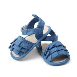 Wholesale Wholesale Baby Walkers Prices - Wholesale- New Arrival Newborn Baby Denim Toddler First Walkers Girls Kid Soft Sole Sneakers Shoes Lowest Price