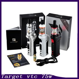 Wholesale Plastic Kit Boxes - Vaporesso TARGET VTC 75W Starter Kit With Ceramic cCELL Tank Coil Temperature Control Mod Gift Box 0268008